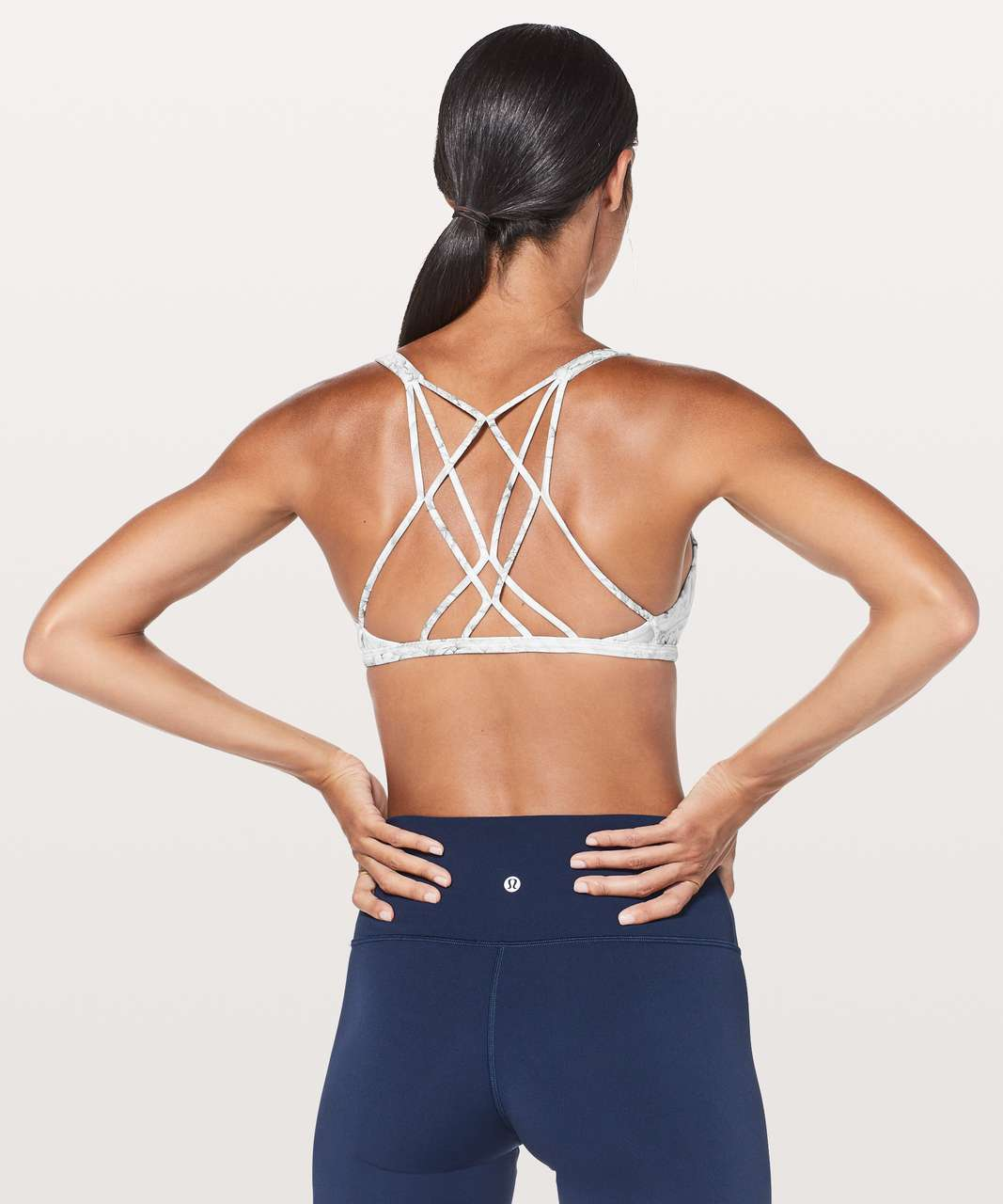 f751c80920 Lululemon Free To Be Zen Bra - Mini Twine White Multi - lulu fanatics