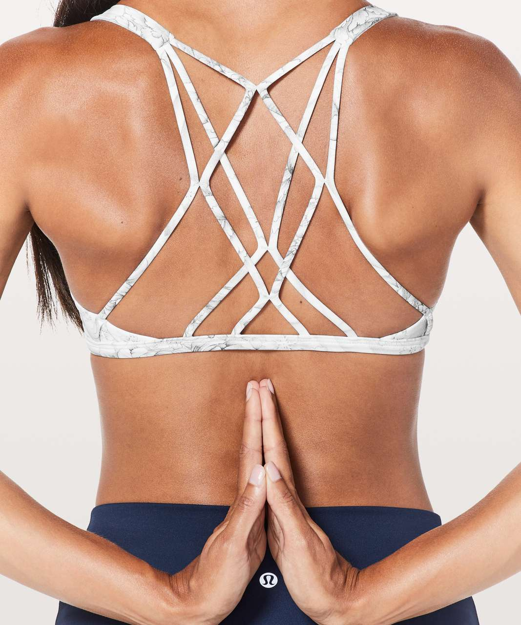 Lululemon Free To Be Zen Bra - Mini Twine White Multi