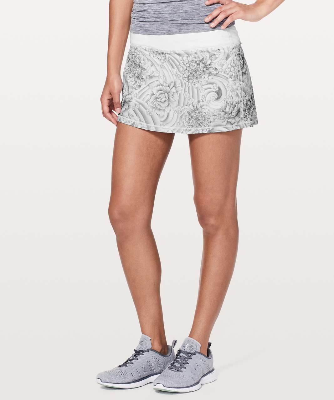 Lululemon Pace Rival Skirt (Regular) *No Panels - Mini Twine White Multi / White