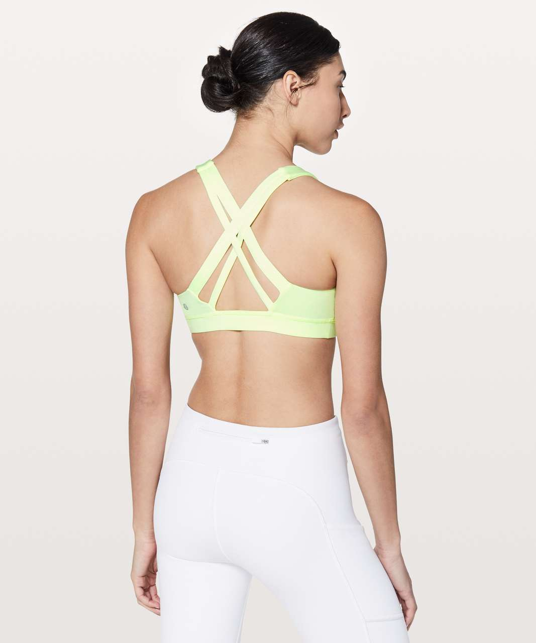Lululemon Stash N' Run Bra - Fluro Citrus