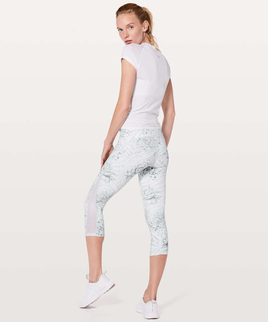 "Lululemon Train Times Crop *21"" - Twine White Multi / White"