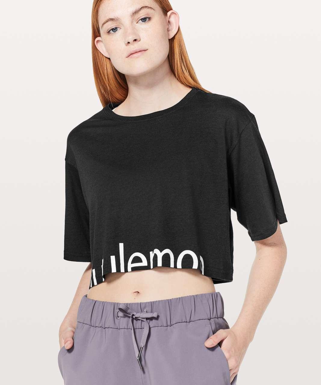 Lululemon Cortes Crop Tee *Expression - Black