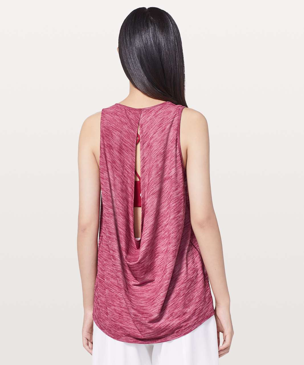 Lululemon Low Key Tank *Silver - Heathered Ruby Red