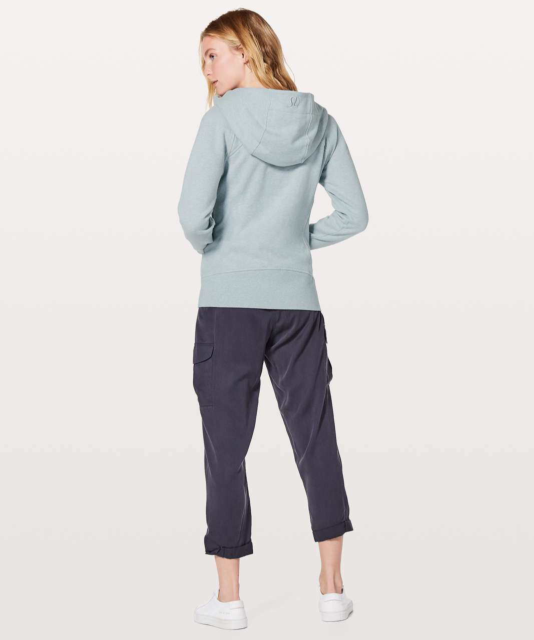 Lululemon Scuba Hoodie *Light Cotton Fleece - Heathered Dawn Blue / Dawn Blue