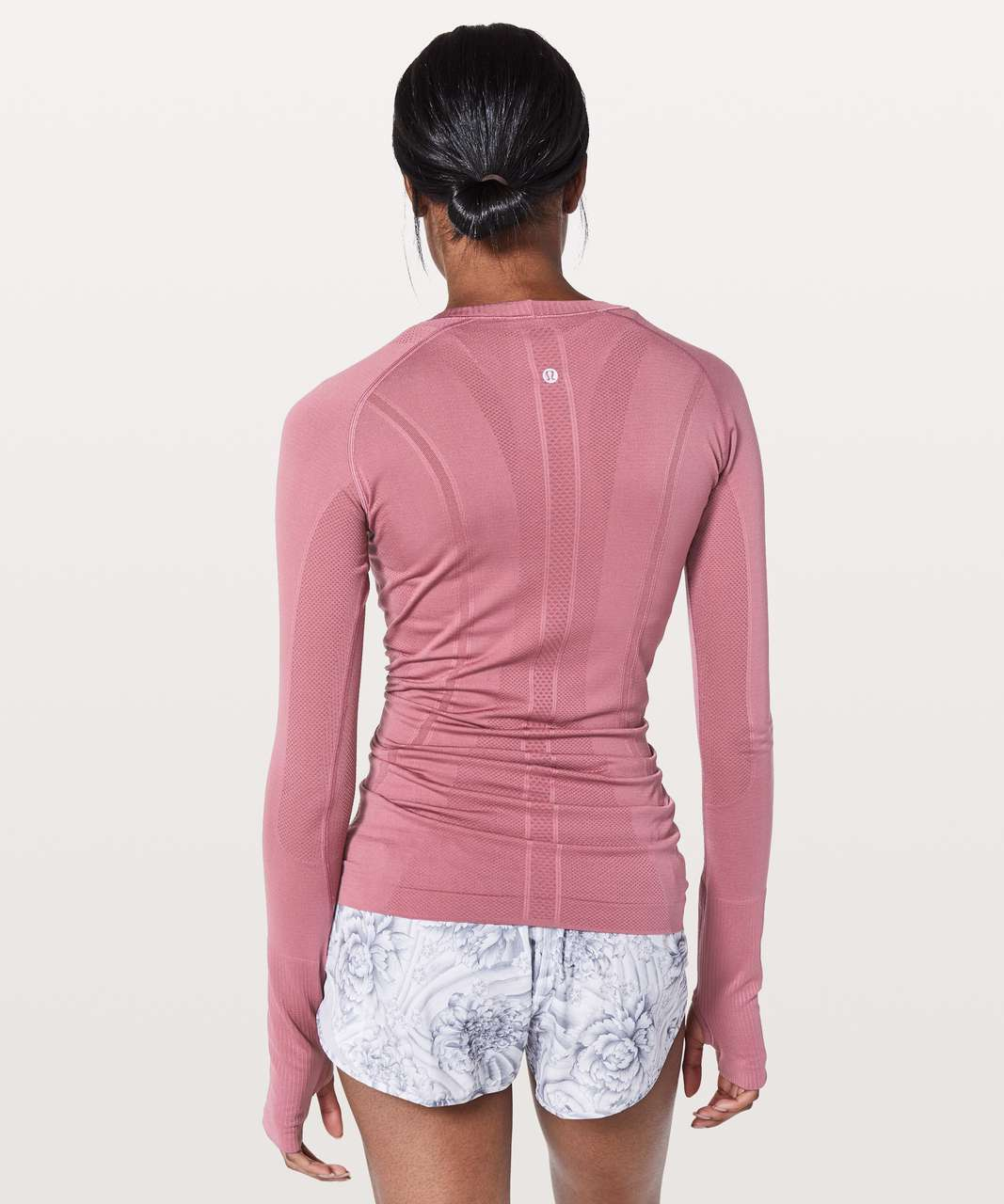 Lululemon Swiftly Tech Long Sleeve Crew - Moss Rose / Moss Rose