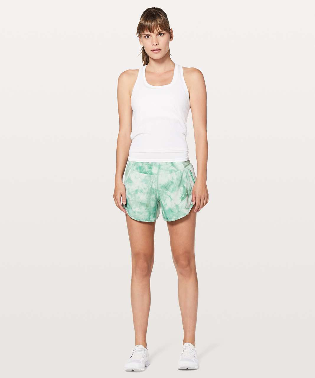 "Lululemon Tracker Short V *4"" - Diamond Dye White Washed Marsh"
