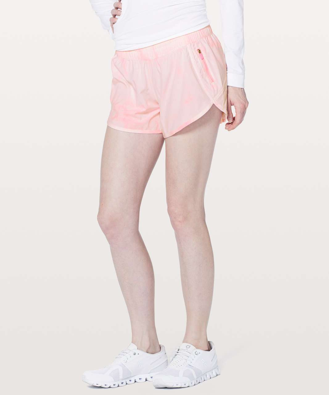 Lululemon Tracker Short V 4 Diamond Dye White Miami Pink Lulu Fanatics