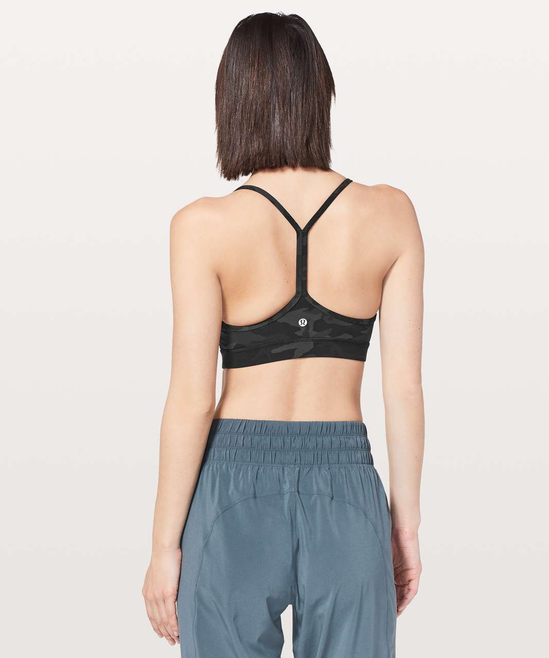 Lululemon Flow Y Bra *Nulu - Incognito Camo Multi Grey (First Release)