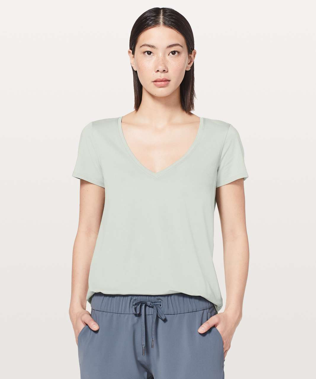 Lululemon Love Tee V - Jade Grey