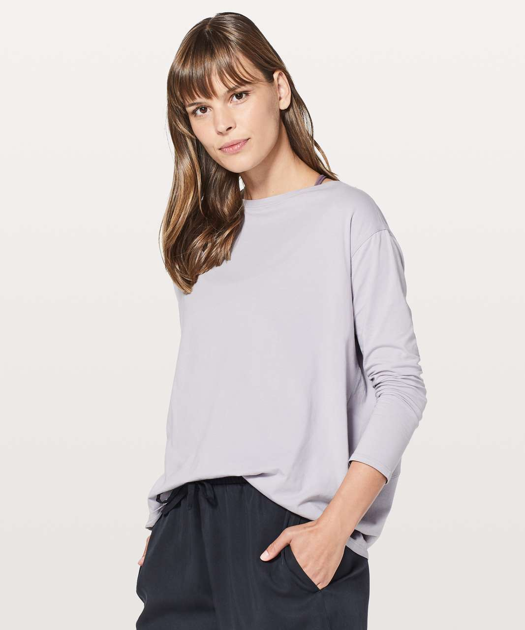 Lululemon Back In Action Long Sleeve - Iced Iris