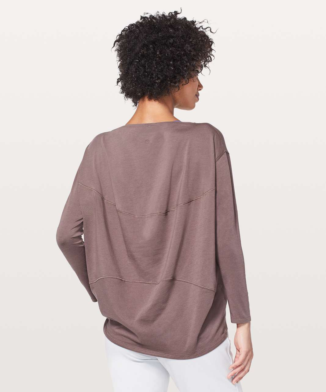 Lululemon Back In Action Long Sleeve - Antique Bark