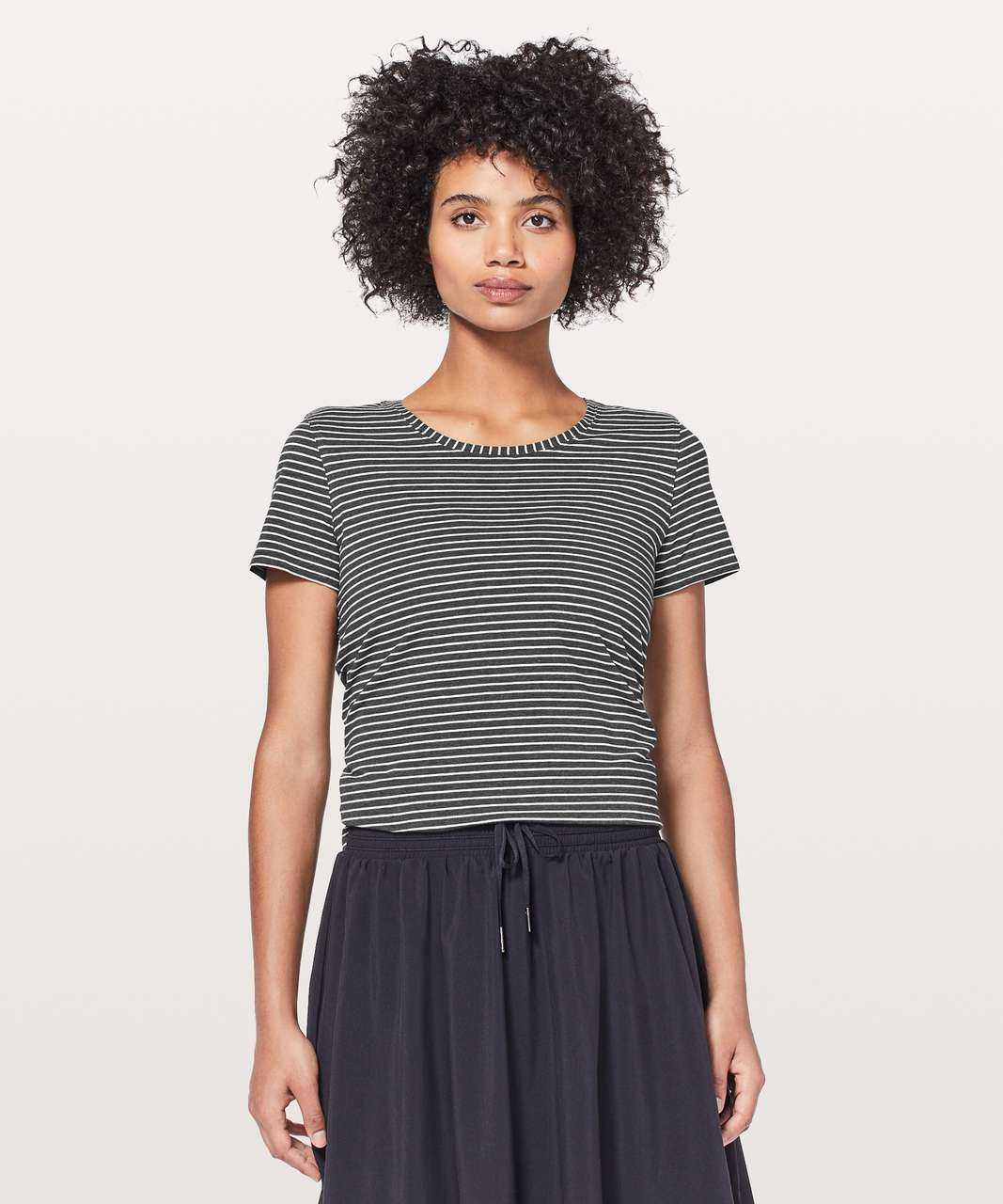 Lululemon Love Crew III - Modern Stripe Heathered Black White