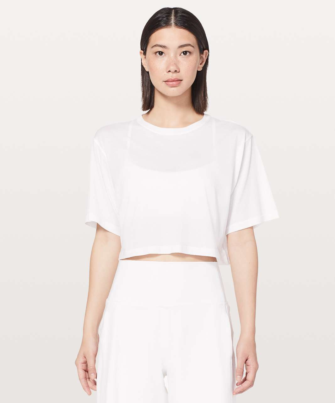 Lululemon Cortes Crop Tee *Light - White