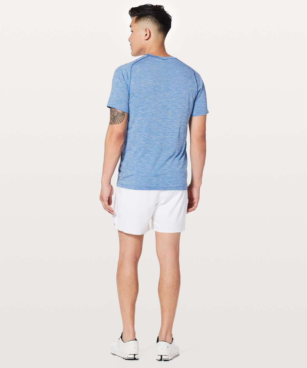 Lululemon Metal Vent Tech Surge Short Sleeve - Admiral Blue / White