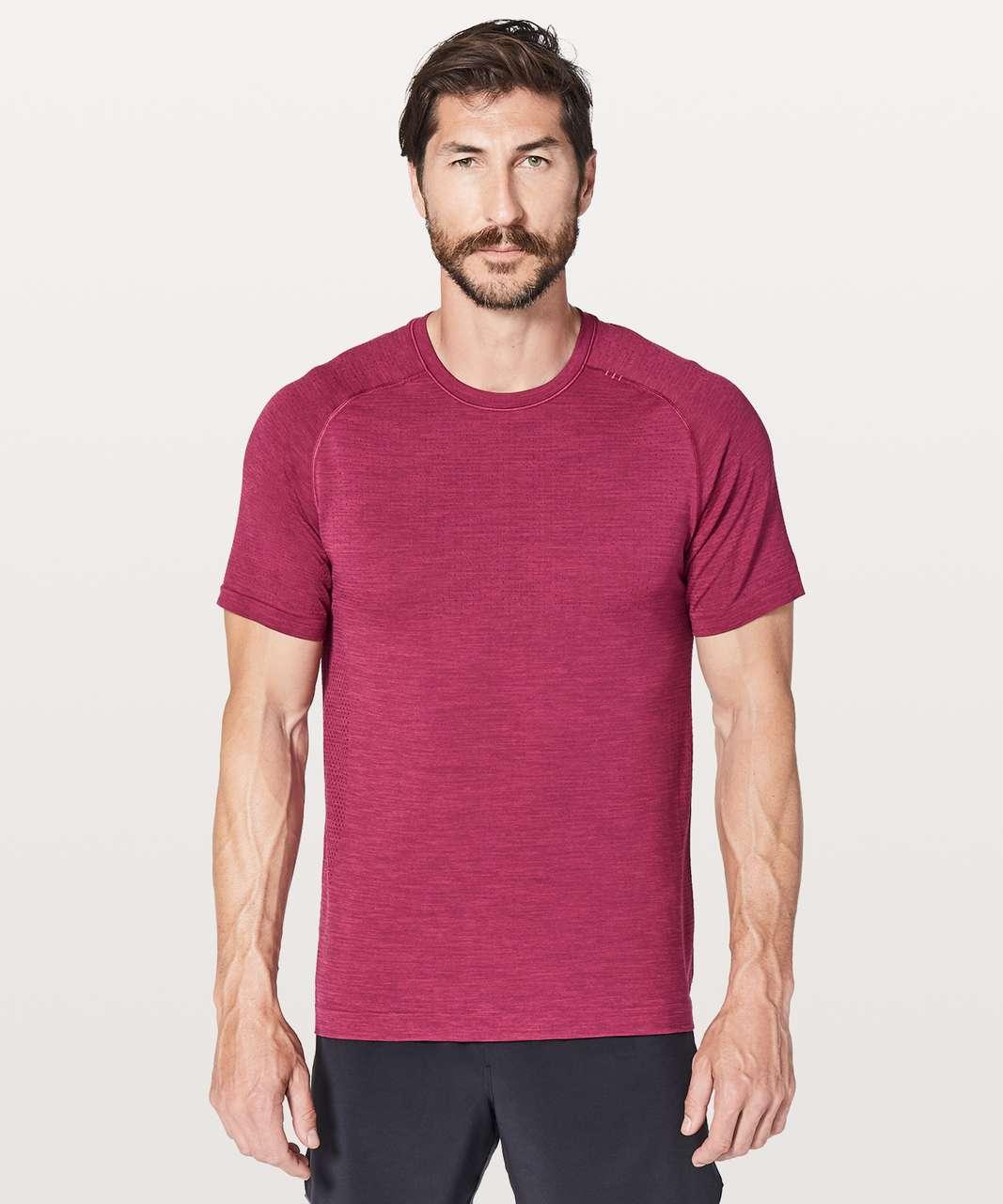 Lululemon Metal Vent Tech Surge Short Sleeve - Violet Red / Dashing Purple