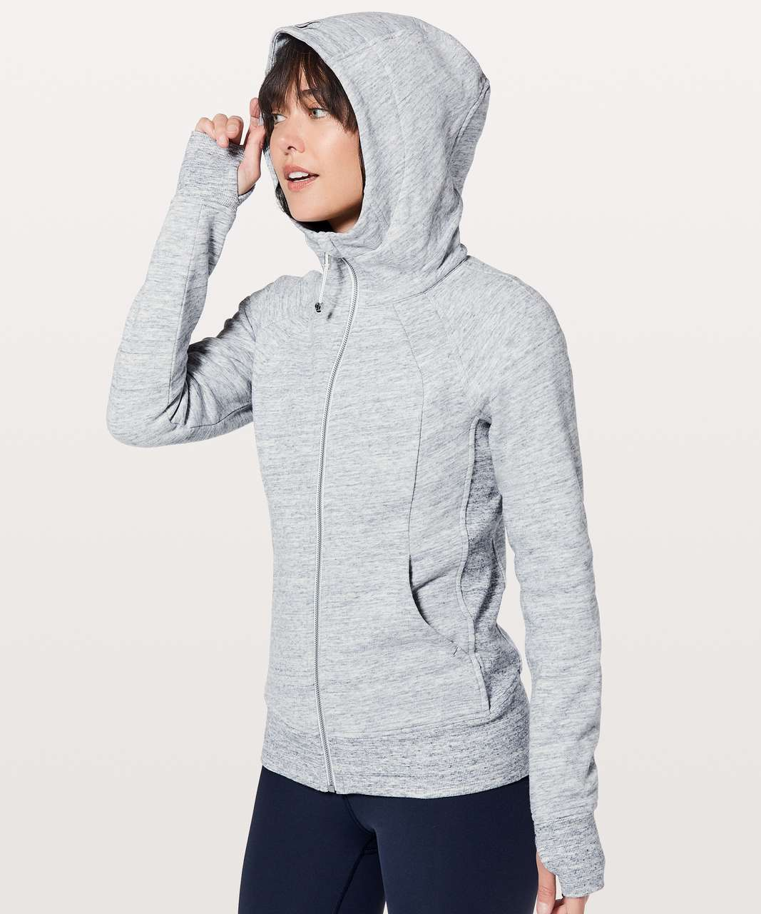 Lululemon Scuba Hoodie *Light Cotton Fleece - Heathered Space Dyed Nimbus / Nimbus