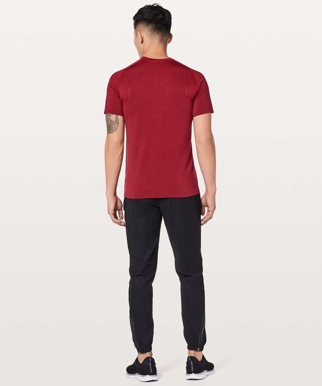 Lululemon Metal Vent Tech Short Sleeve - Bold Red / Deep Rouge