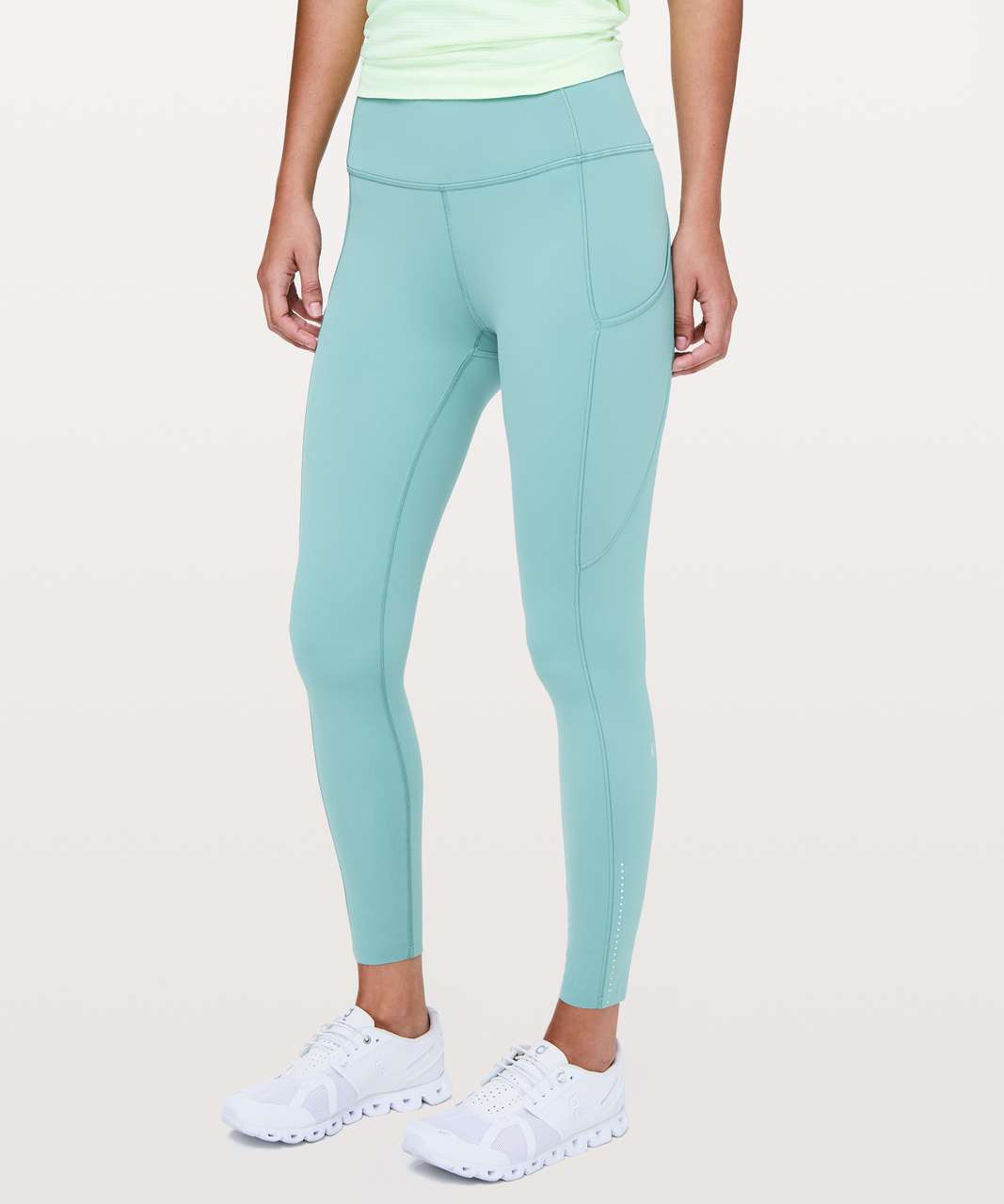 "Lululemon Fast & Free 7/8 Tight II *Nulux 25"" - Pacific Breeze"