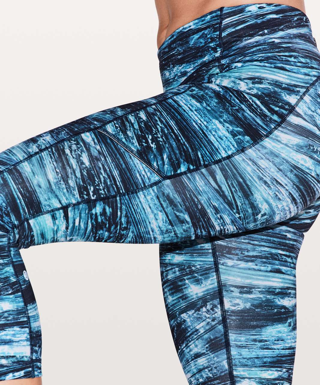 "Lululemon Speed Up Crop *21"" - Shorelines Multi Blue"
