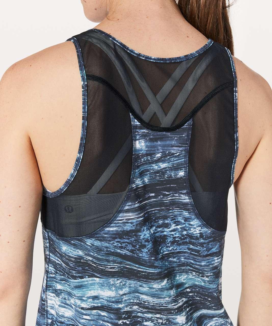 Lululemon Sculpt Tank II - Shorelines Multi Blue / Black