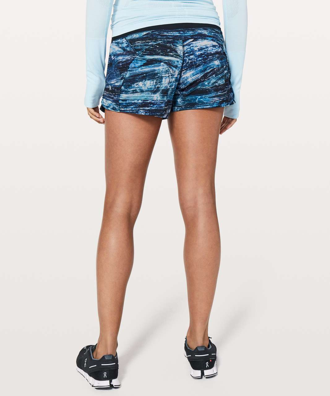 "Lululemon Run Times Short II *4"" - Shorelines Multi Blue / Black"