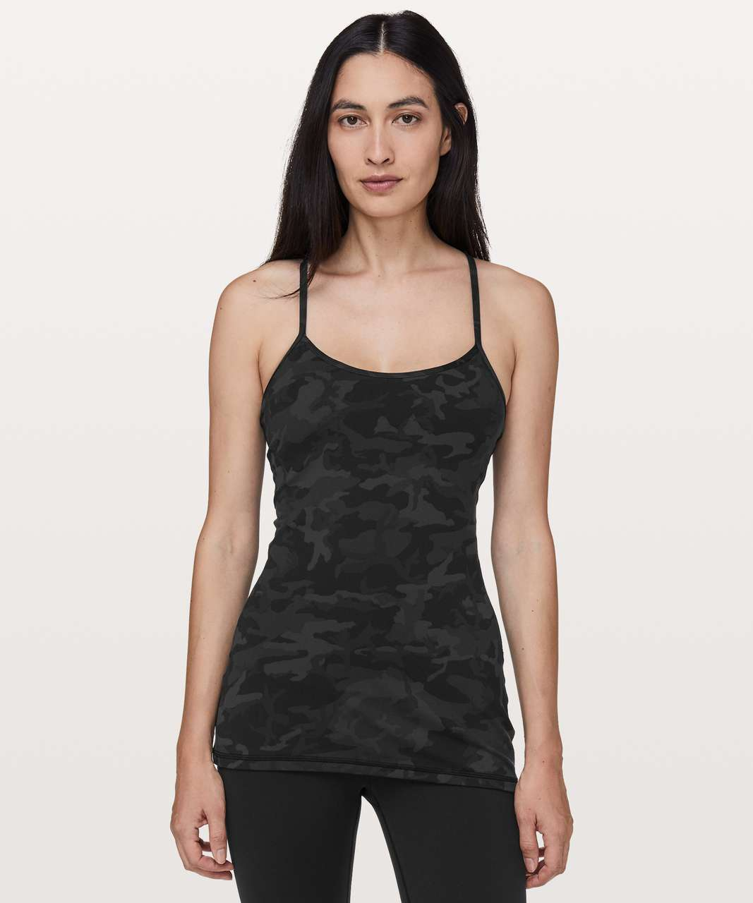 Lululemon Power Y Tank *Luon - Incognito Camo Multi Grey