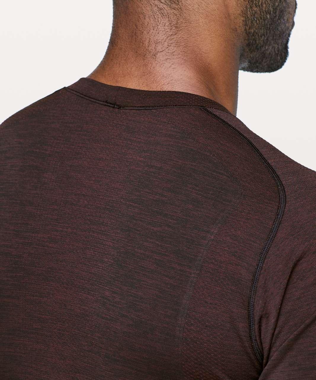 Lululemon Metal Vent Tech Short Sleeve - Cassis / Black