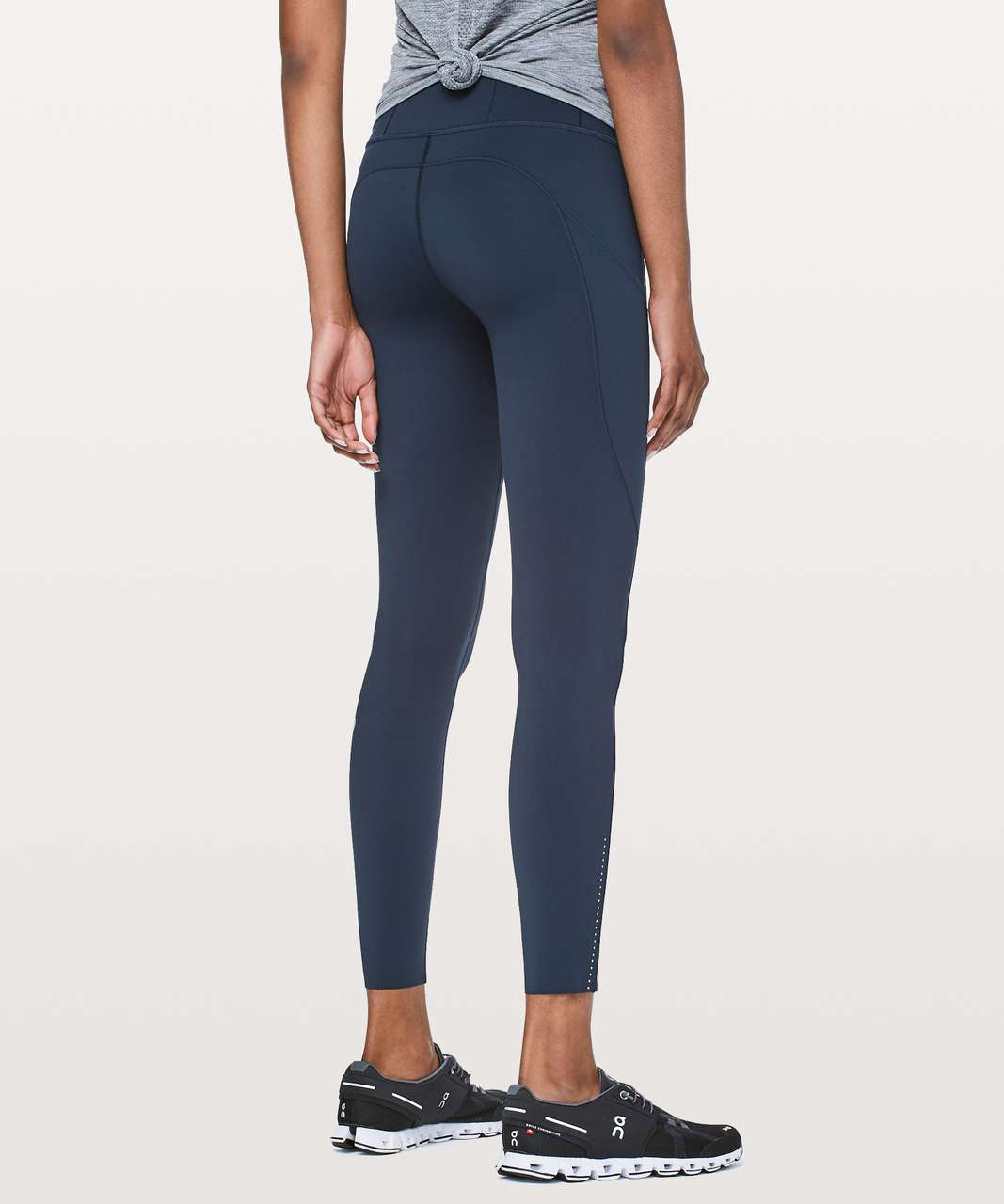 "Lululemon Fast & Free 7/8 Tight II *Nulux 25"" - True Navy"