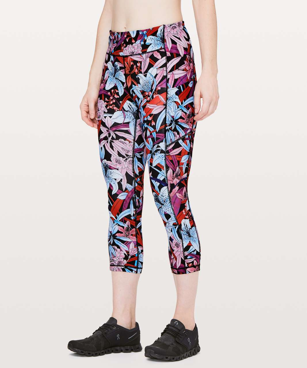 "Lululemon Speed Up Crop *21"" - Lush Lillies Multi"