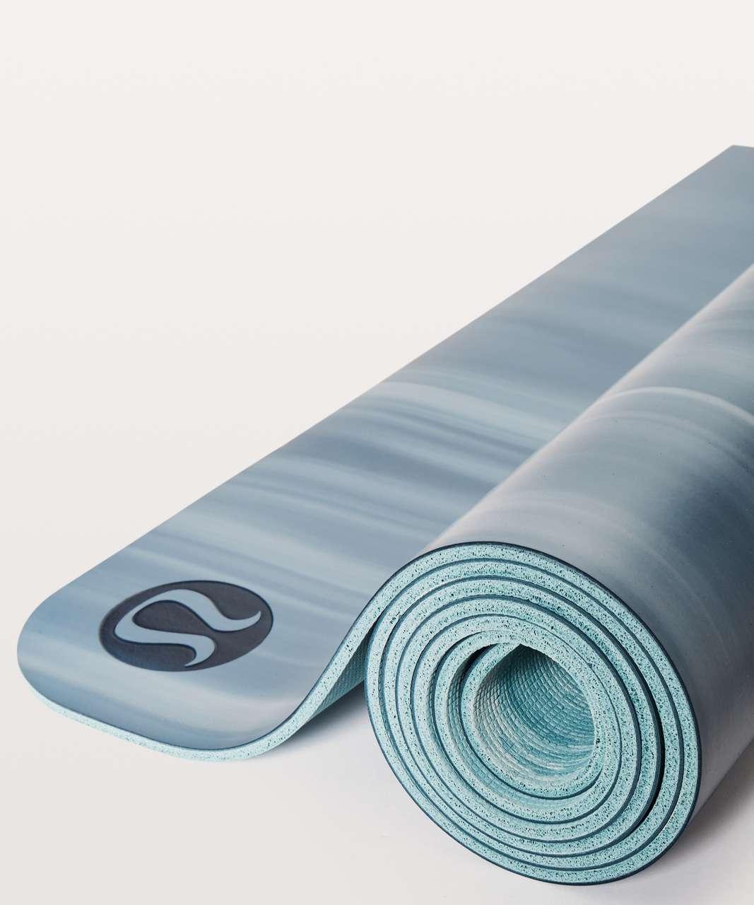 Lululemon The Reversible Mat 5mm - Slate Blue / White / White / Cloud Blue
