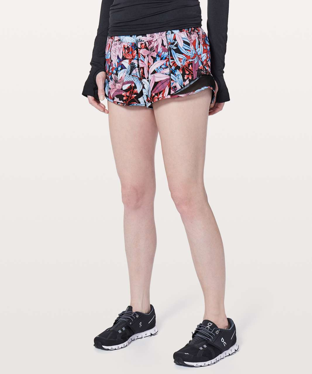 "Lululemon Hotty Hot Short II *2.5"" - Lush Lillies Multi / Black"