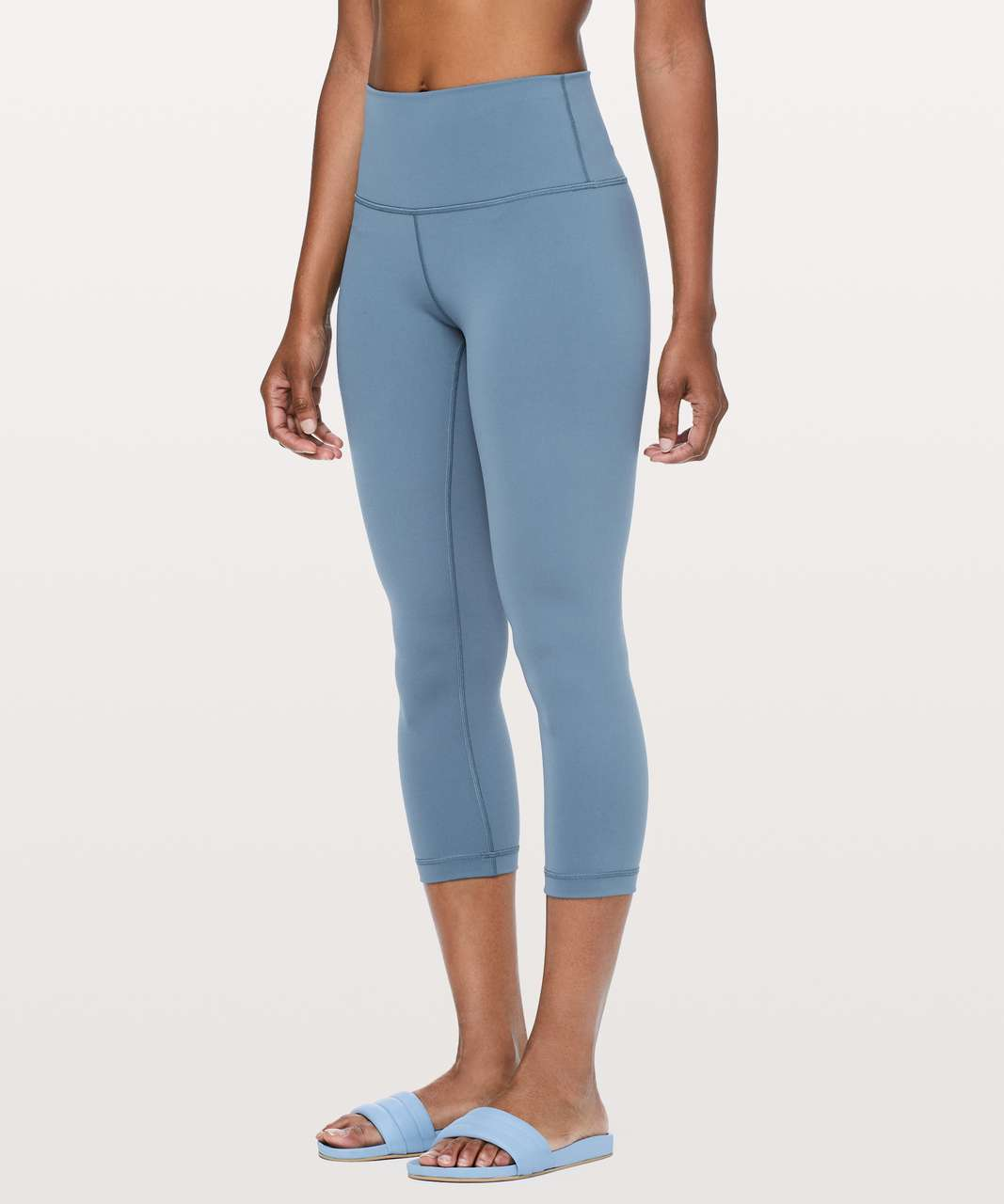 "Lululemon Wunder Under Crop (Hi-Rise) *Full-On Luxtreme 21"" - Slate Blue"