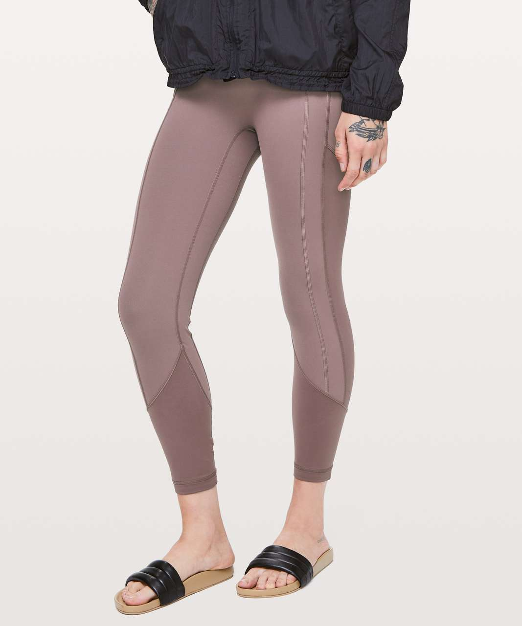 """Lululemon All The Right Places Crop II *23"""" - Antique Bark"""