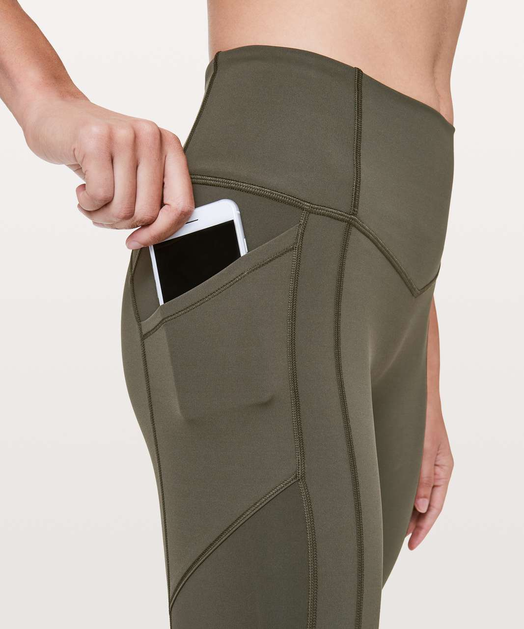 """Lululemon All The Right Places Crop II *23"""" - Dark Olive"""