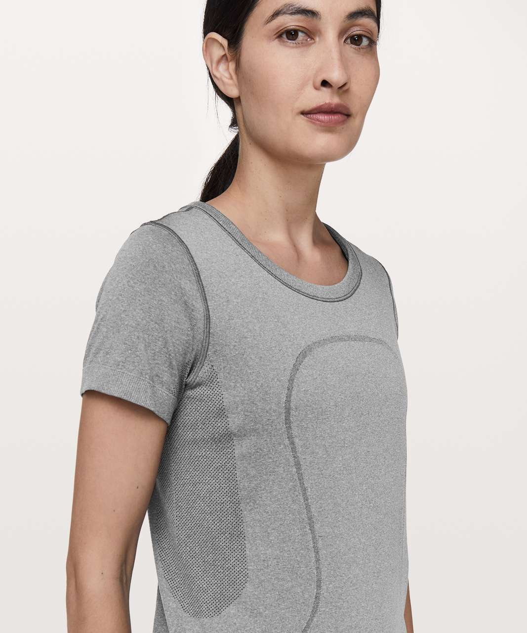 Lululemon Swiftly Tech Short Sleeve (Breeze) *Relaxed Fit - Slate / White (First Release)