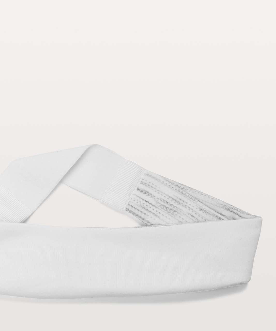 Lululemon Fringe Fighter Headband - White / Tiger Space Dye Hail White (First Release)
