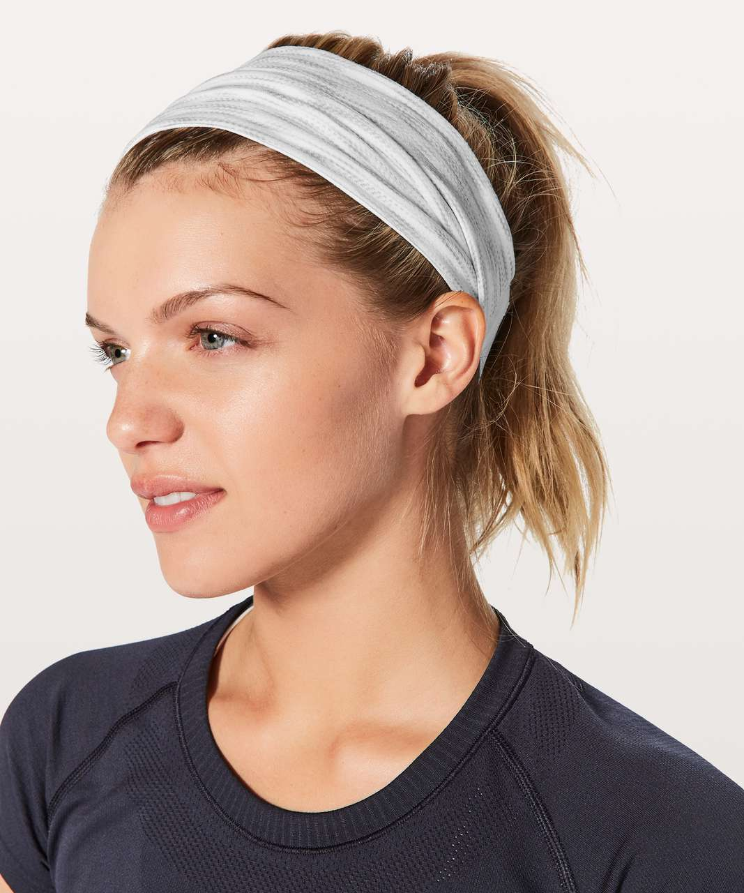 ba7bbd7c9cb Lululemon Fringe Fighter Headband - White / Tiger Space Dye Hail White -  lulu fanatics