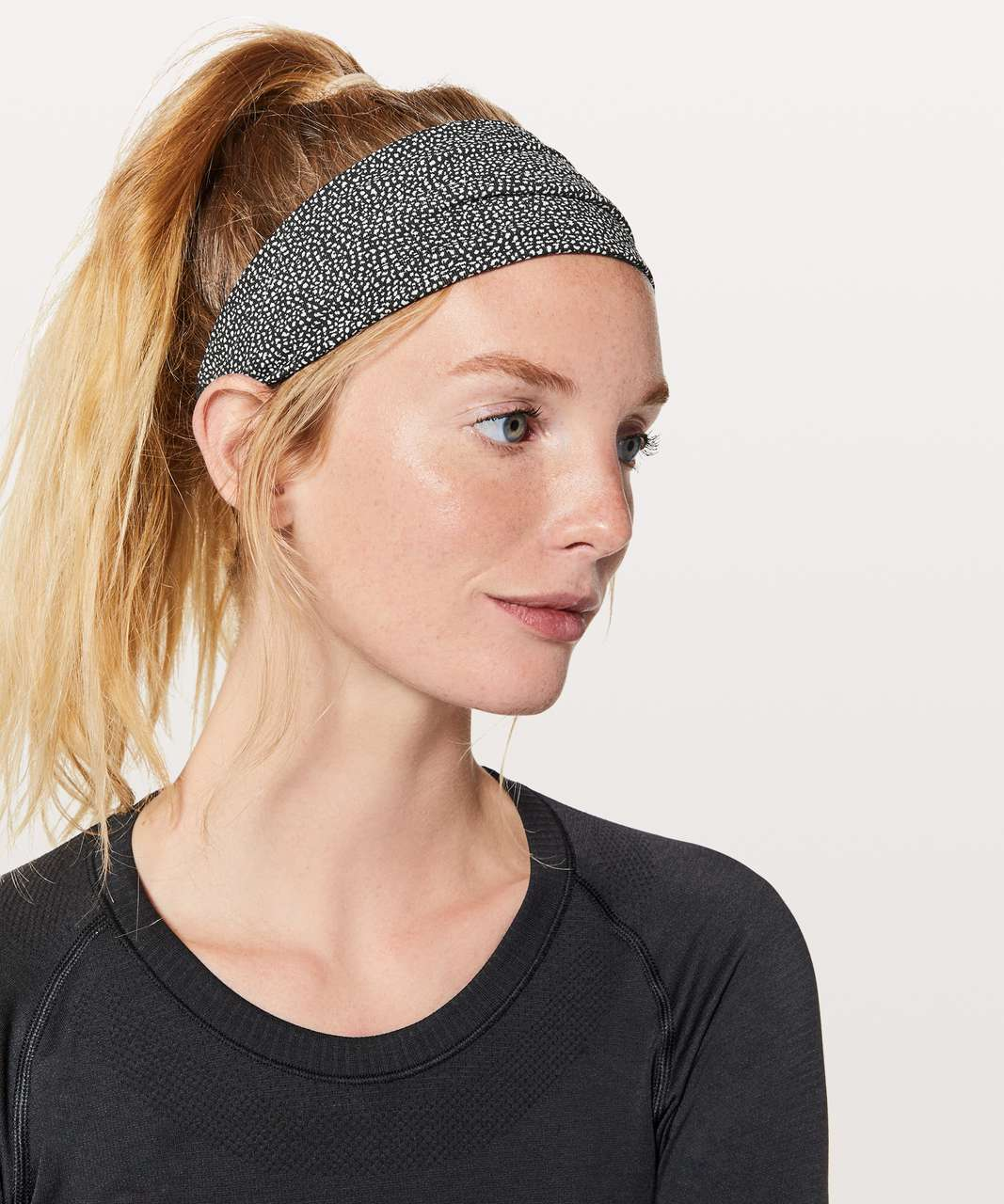 a88eb7267fb Lululemon Fringe Fighter Headband - Chakra Print Alpine White Black /  Heathered Black - lulu fanatics