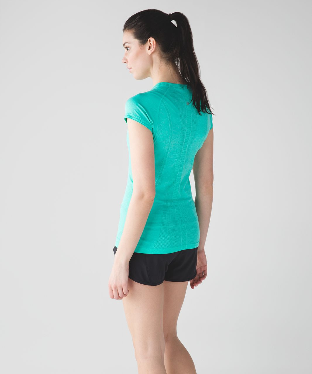 Lululemon Swiftly Tech Short Sleeve Crew - Heathered Bali Breeze