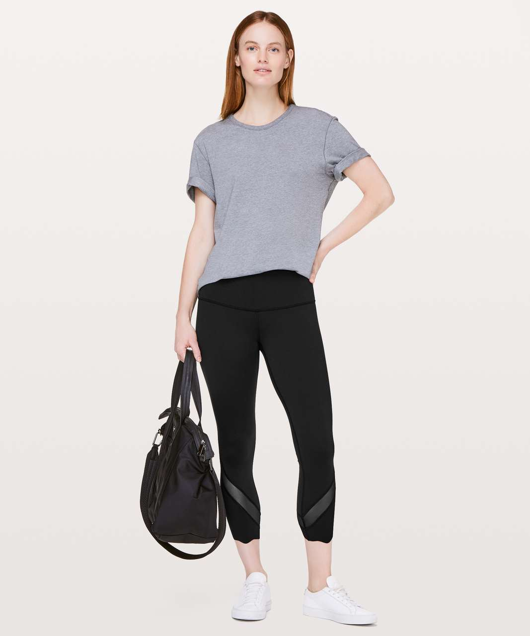 "Lululemon Wunder Under Crop II (Special Edition) *Scallop 23"" - Black"