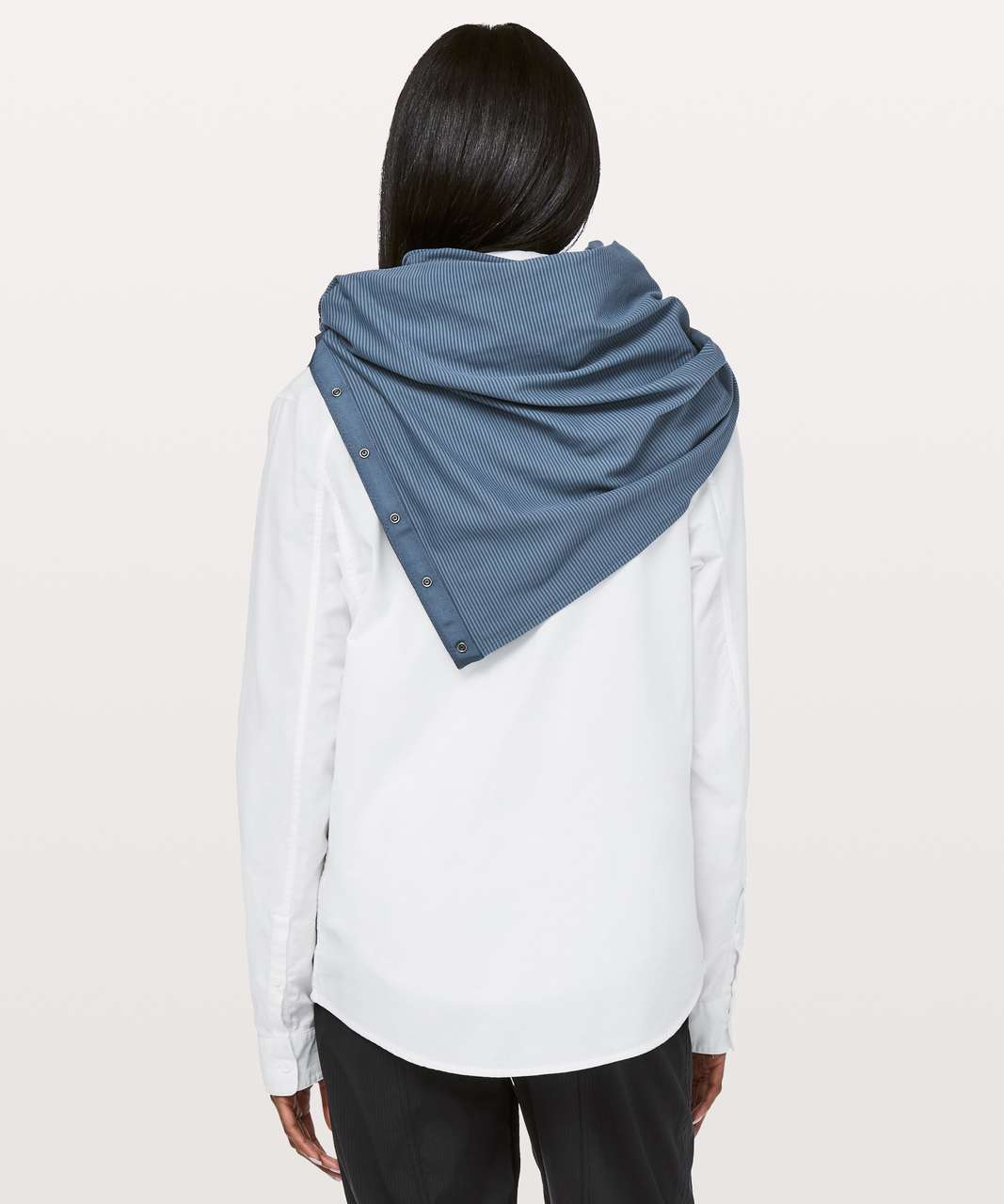 Lululemon Vinyasa Scarf *Rulu - Tonka Stripe Slate Blue Thunder Blue