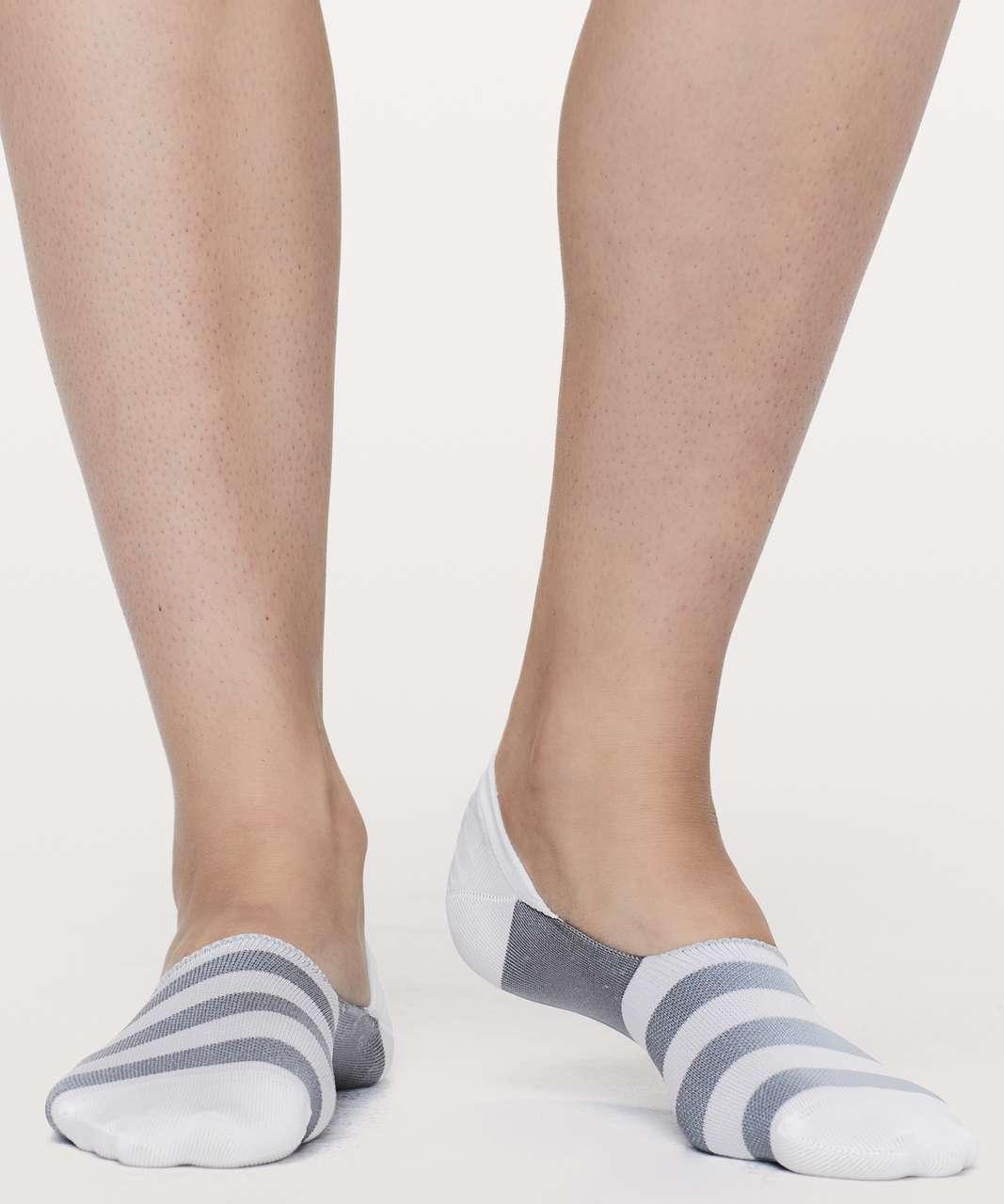 Lululemon Secret Sock - Arctic Grey / White