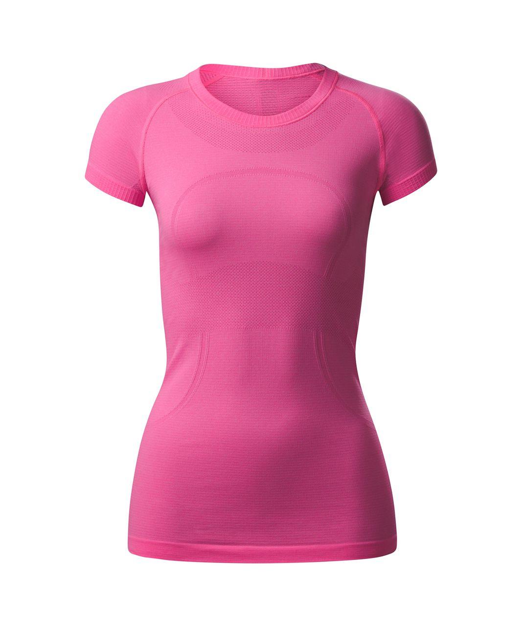 Lululemon Swiftly Tech Short Sleeve Crew - Heathered Neon Pink