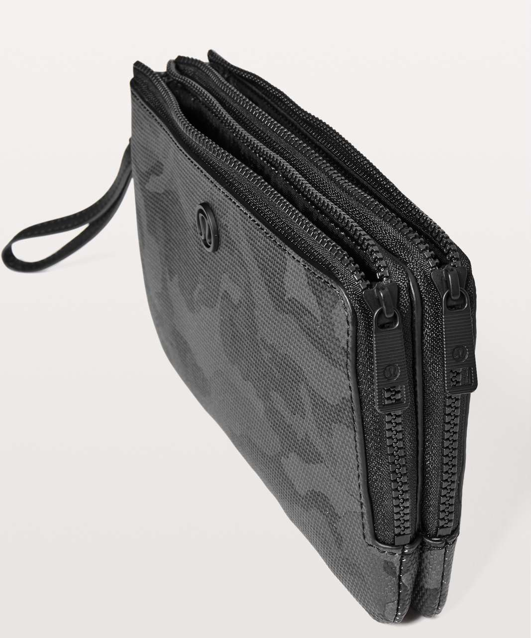 Lululemon Double Up Pouch - Incognito Camo Multi Grey / Black