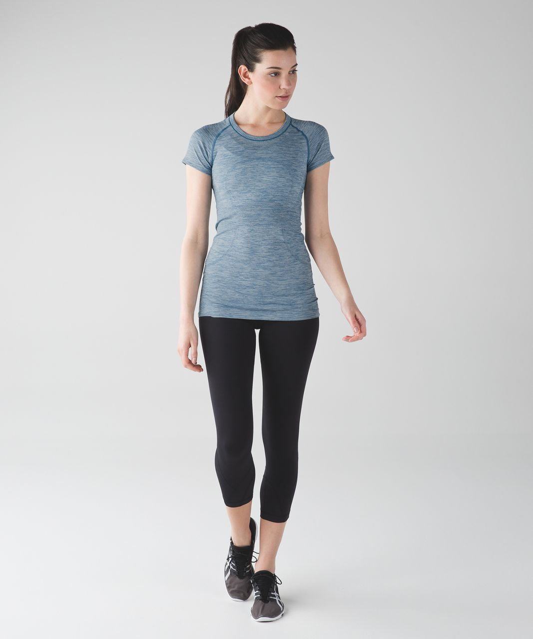 Lululemon Swiftly Tech Short Sleeve Crew - Heathered Tofino Teal
