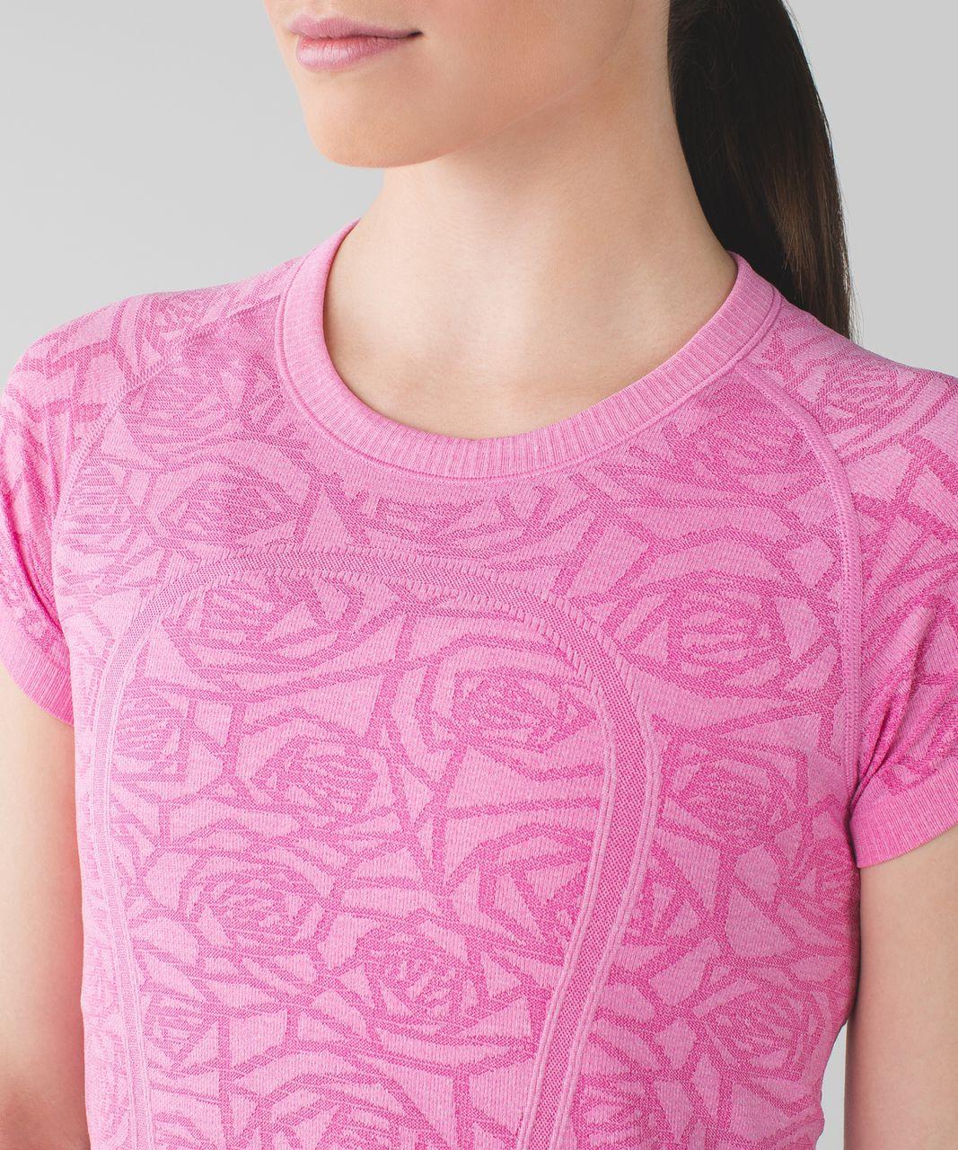 Lululemon Swiftly Tech Short Sleeve Crew - Heathered Pink Paradise