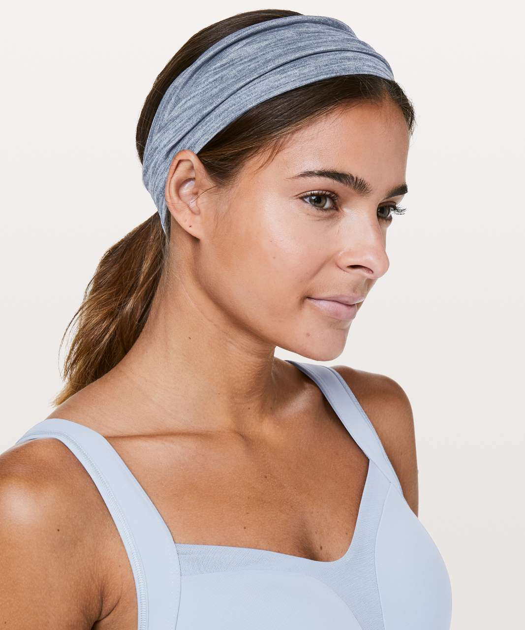 Lululemon Fringe Fighter Headband - Heathered Thunder Blue / Heathered Thunder Blue