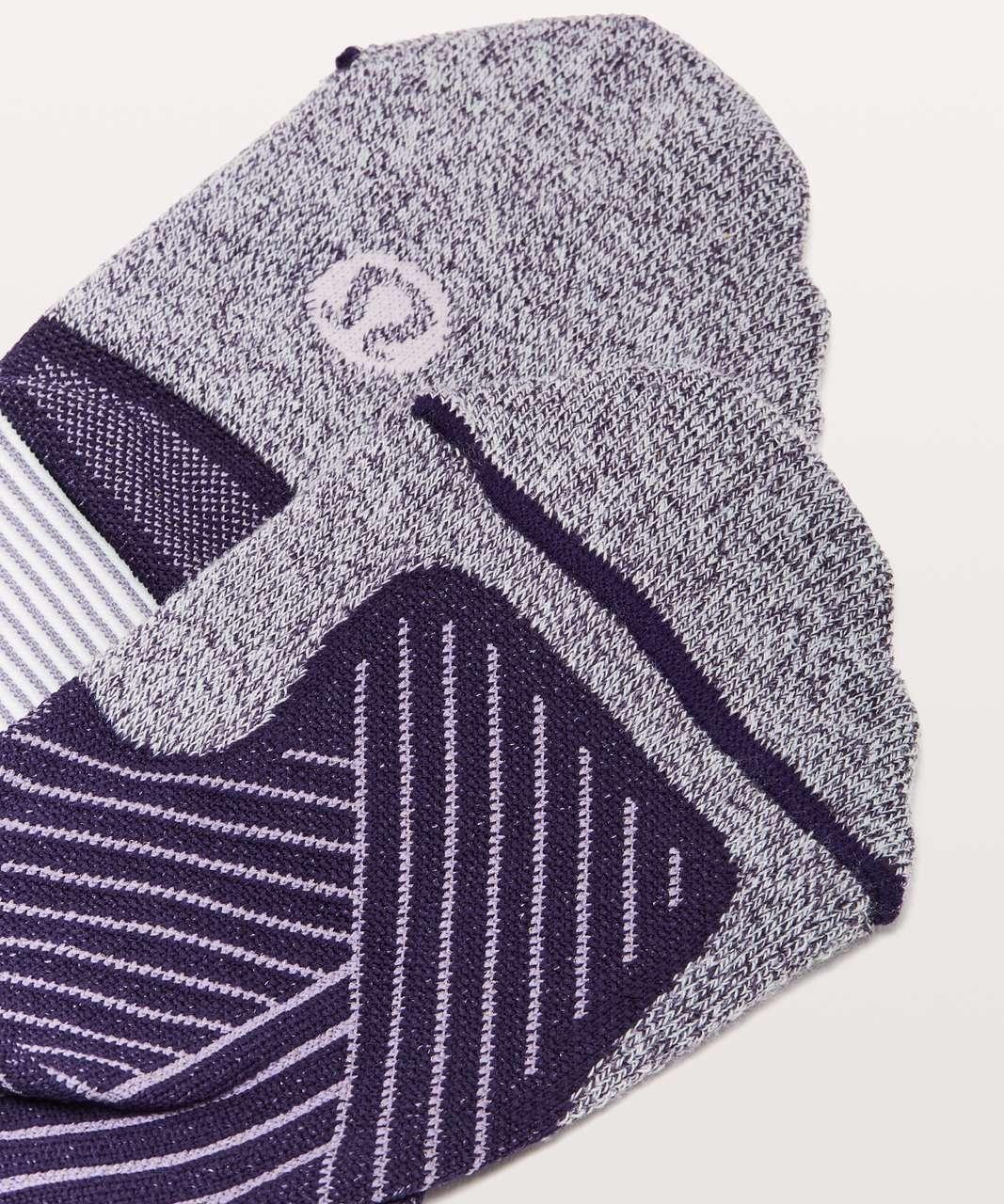 Lululemon Speed Sock *Silver - Dark Court Purple / Enchanted Iris