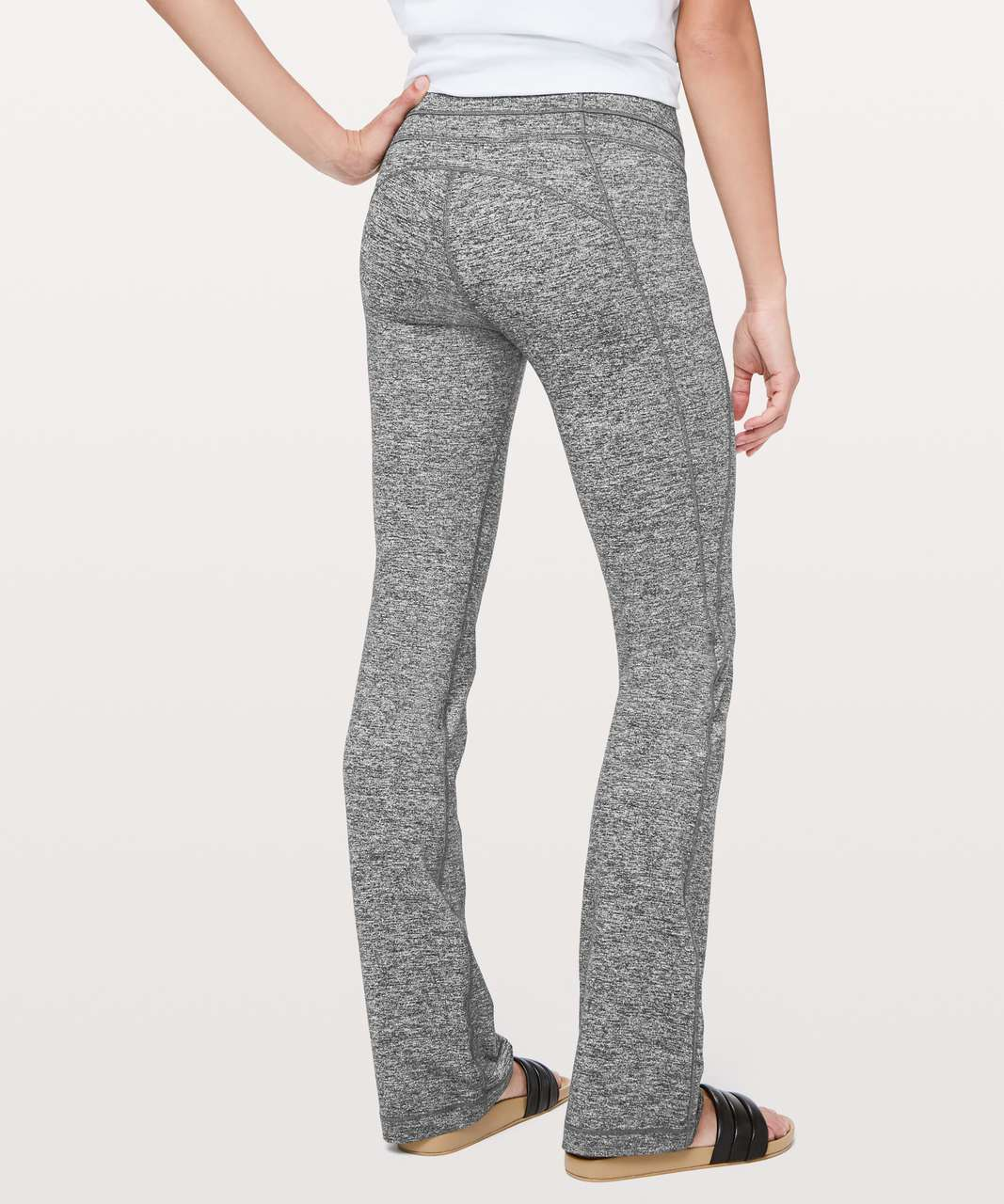 """Lululemon Groove Pant Bootcut 32"""" - Heathered Black (First Release)"""
