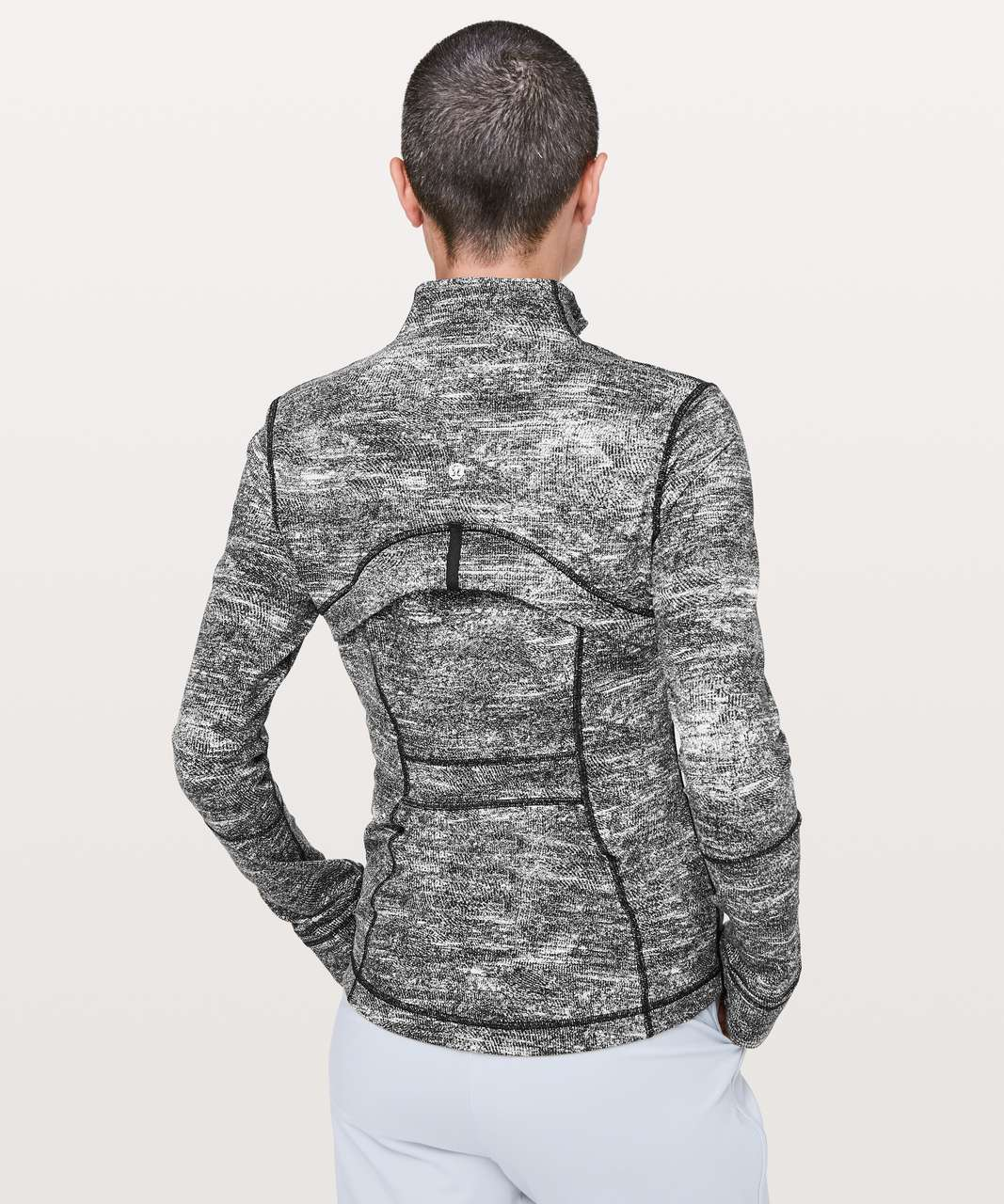 Lululemon Define Jacket - Rush Jacquard Black White